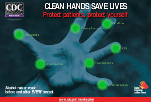 Clean Hands save lives poster cdc