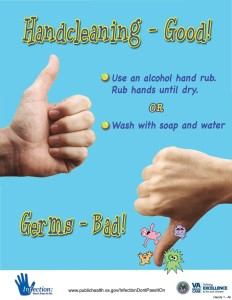 An example of current hand hygiene promotion.