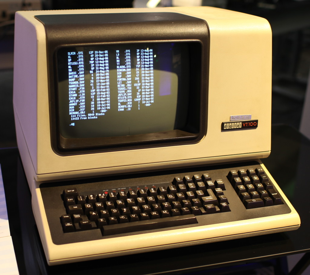 Source: https://commons.wikimedia.org/wiki/File:DEC_VT100_terminal.jpg