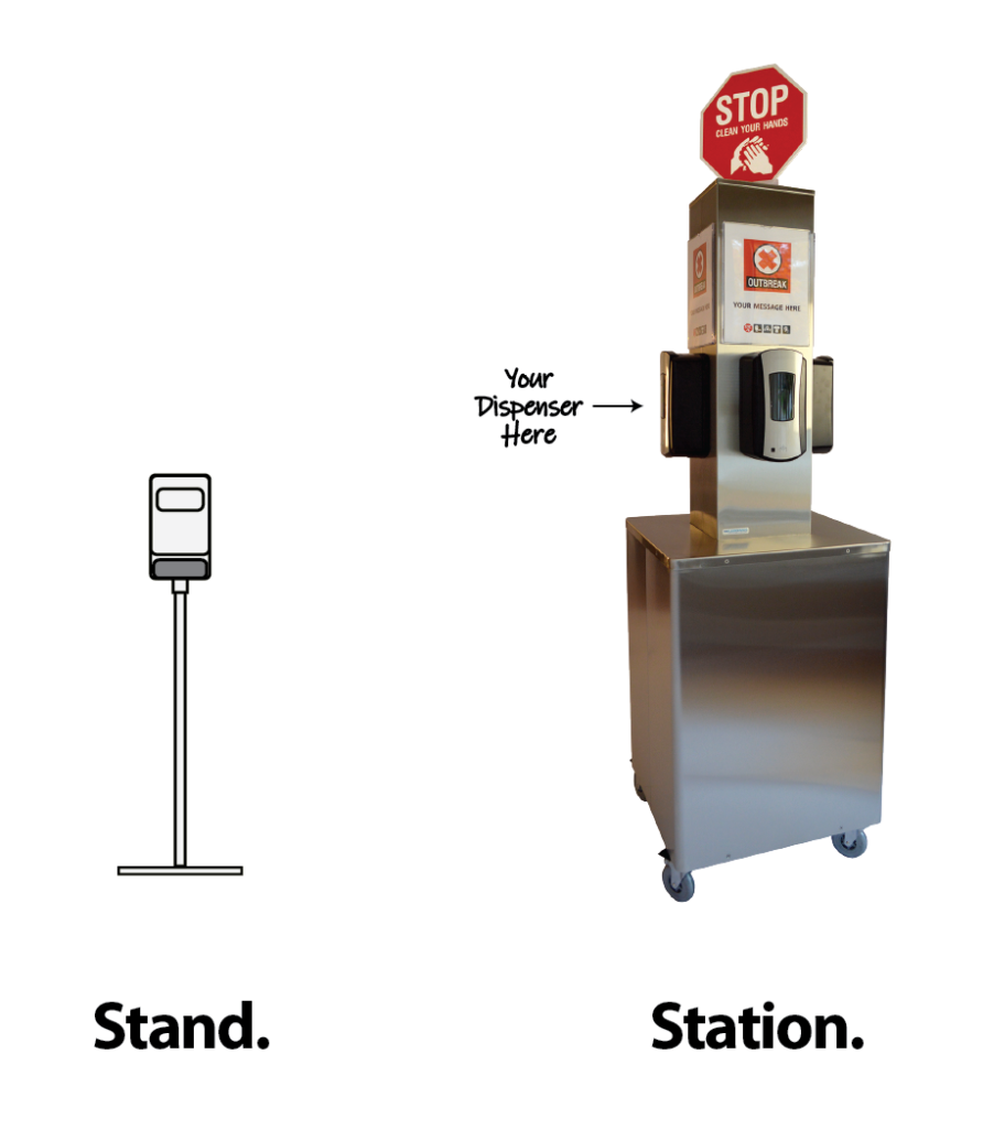 Stand vs station.